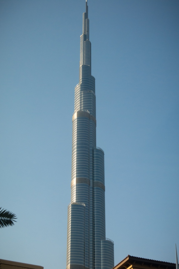 Dubai's Burj Khalifa, the world's tallest building, with over 160 floors, rising 2,716.5 feet