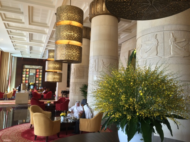 Front lobby of the Raffles Hotel, Dubai, U.A.E.