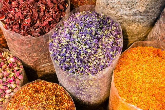 Dubai Spice Souk dried flowers
