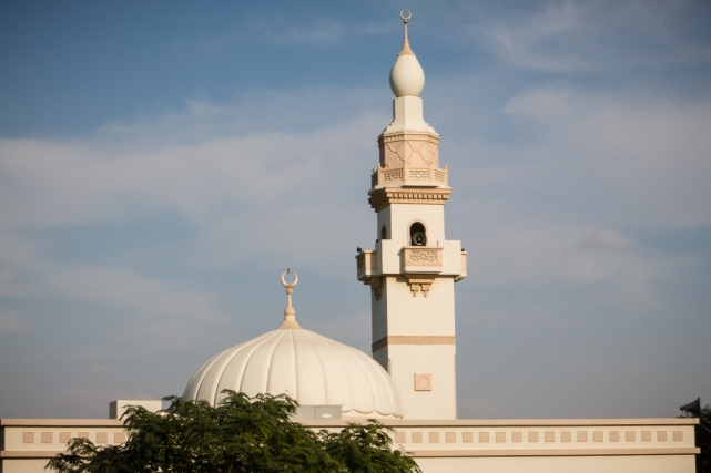 Dubai traditional neighborhood mosque