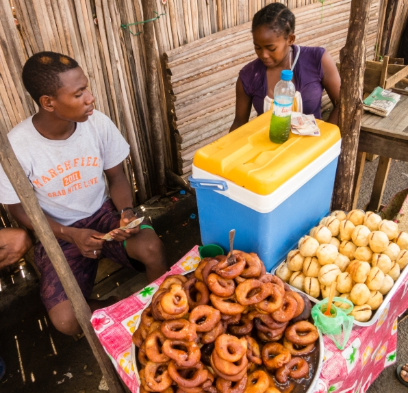 Nosy Be, Madagascar -- Very popular fresh fried donoughts