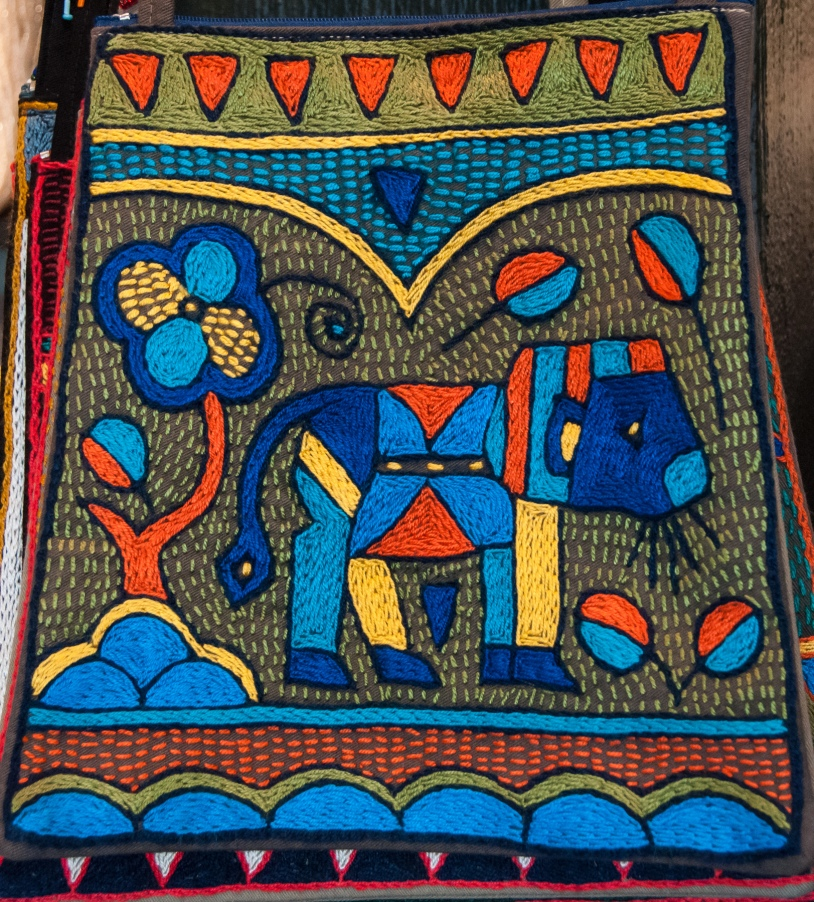 Zulu art -- colorful fabric
