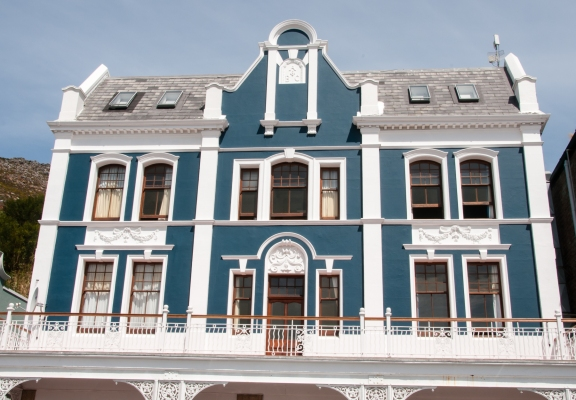 Blue house, Simon's Town, Cape Peninsula (south of Cape Town), South Africa