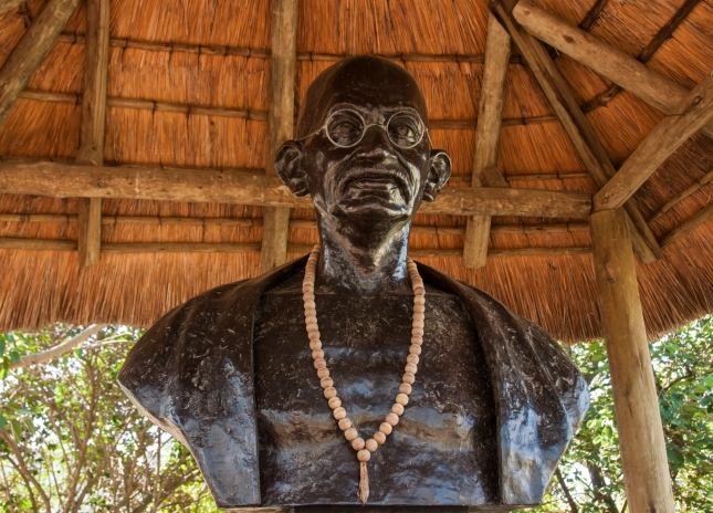 Bust of Mohandas K. Gandhi at the Phoenex Settlement, Durban, South Africa