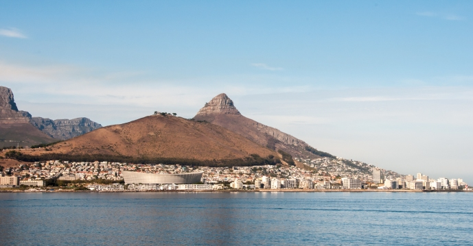 Lion's Head and the FIFA 2010 World Cup stadium, Cape Town, South Africa