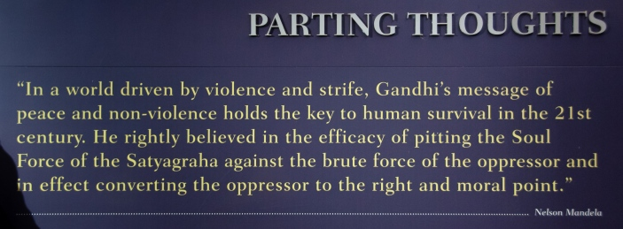Parting thoughts at the M. Gandhi Museum, Phoenix Settlement, Durban, South Africa