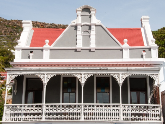 Red roof house, Simon's Town, Cape Peninsula (south of Cape Town), South Africa