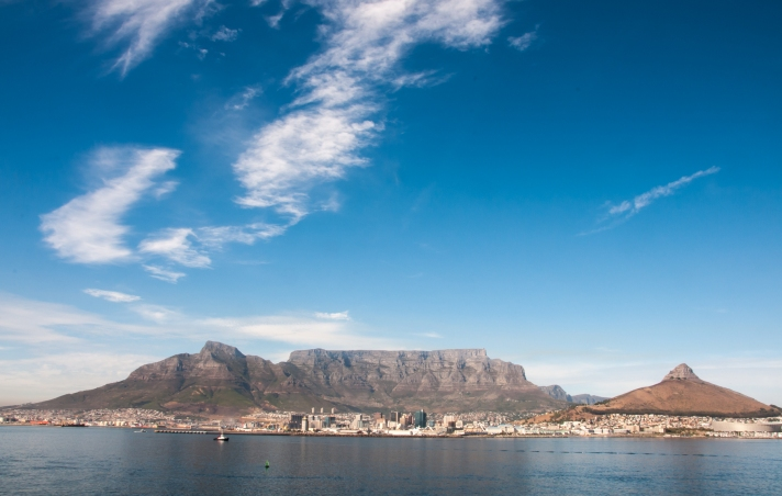 Sailing into Cape Town Harbour