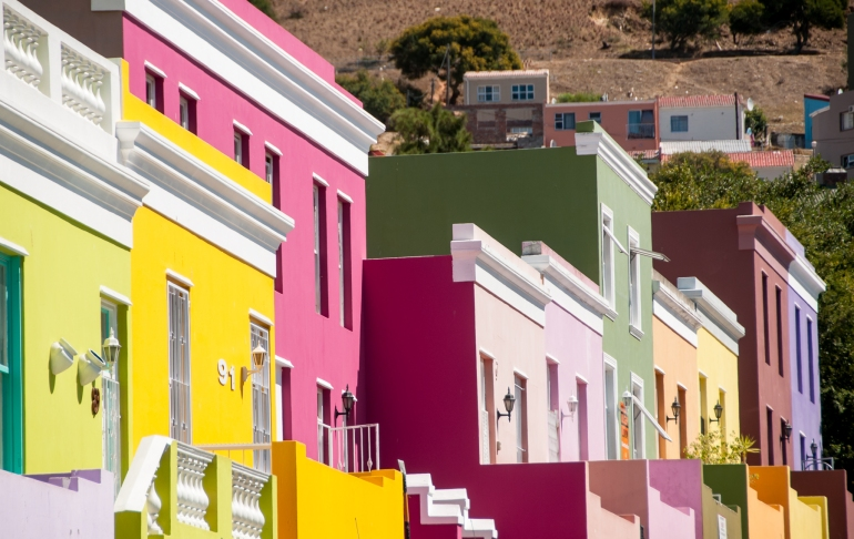 The brightly painted homes of Bo-Kaap, the