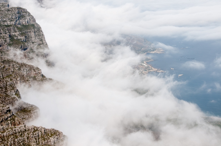 The Twelve Apostles and the Atlantic Ocean coastline viewed from Table Mountain