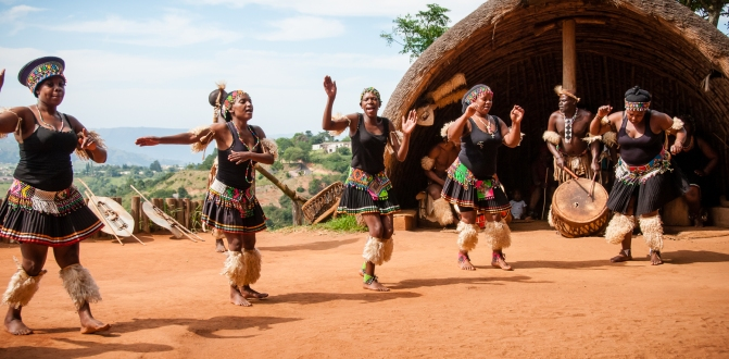 Traditional Zulu dance - a marriage story
