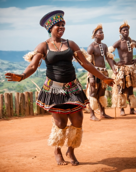 Traditional Zulu dance - the bride-to-be