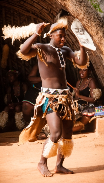 Traditional Zulu dance - the groom-to-be