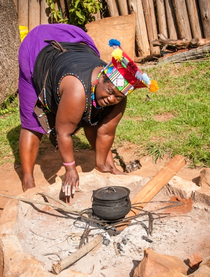 Typical Zulu home cooking