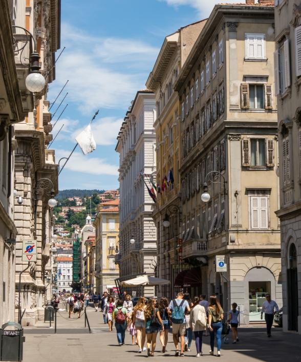 Area Pedonale (pedestrian street -- shopping) in Trieste, Italy