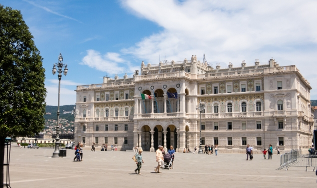 Government building in the Piazza dell' Unita d' Italia, Trieste, Itlay