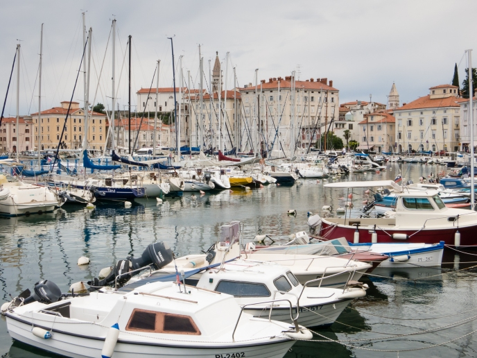 Harbor and Old Town Piran, Slovenia