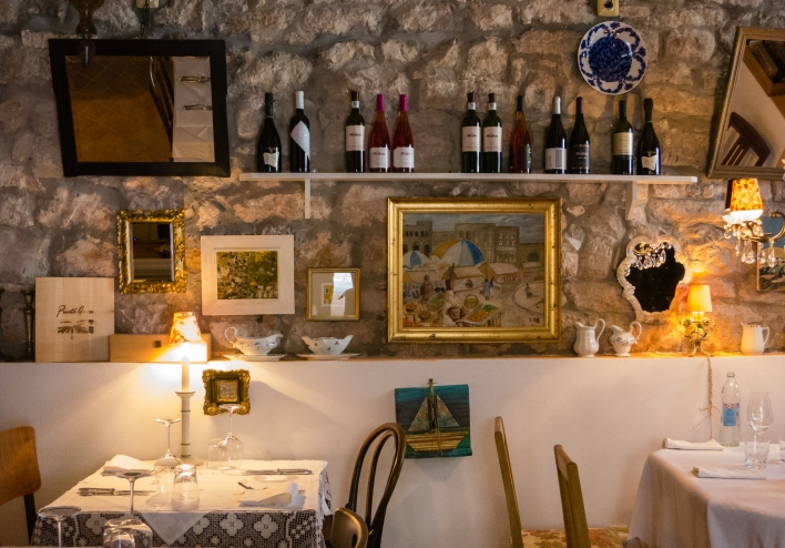 Interior of Krcma Ulika restaurant, Rovinj, Croatia