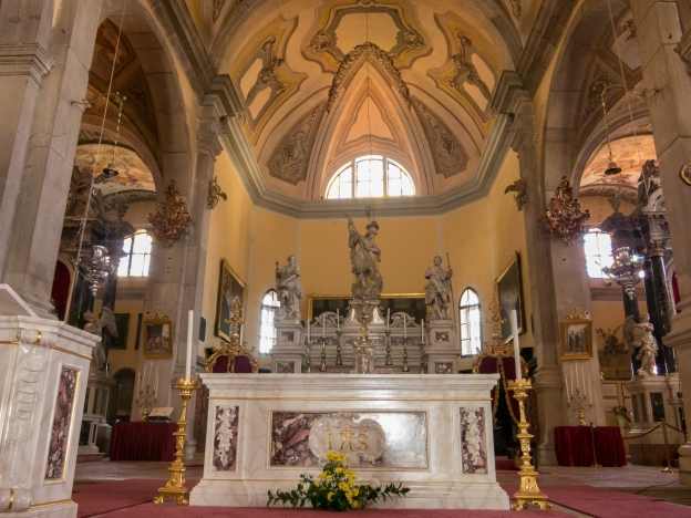 Interior of St. Euphemia Cathederal, Rovinj, Croatia
