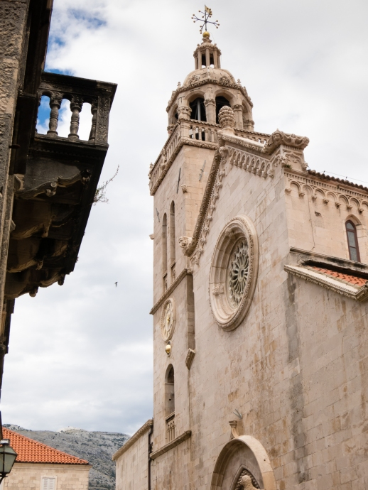 Katedrala Sv. Marka (St. Mark's Cathedral) in Old Town Korcula, Croatia