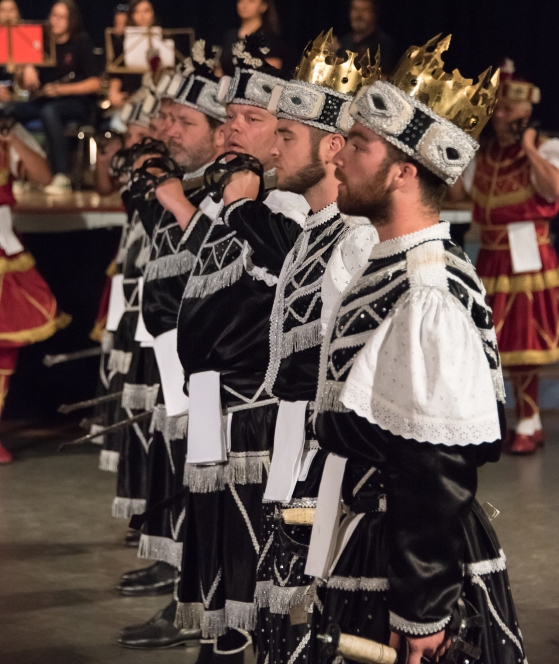 Moreska (sword dance) performed in Korcula, Croatia-  The Black Army enters