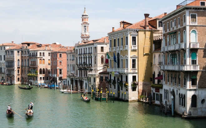 Pallazos (palaces) on the Canal Grande (Grand Canal), Venice, Italy