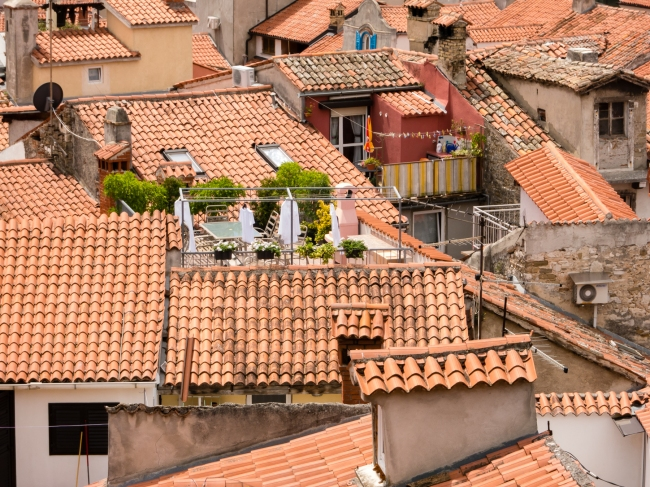 Roofs of Piran, Slovenia