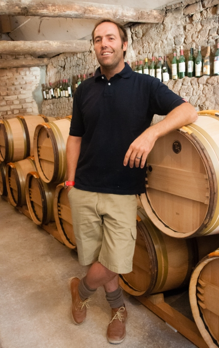 "South Africa's ""first certified celebrity winemaker"", the ""enfant terrible"" Eden Sadie in his cellar at The Sadie Family Wines, The Swartland Region, Western Cape, South Africa"