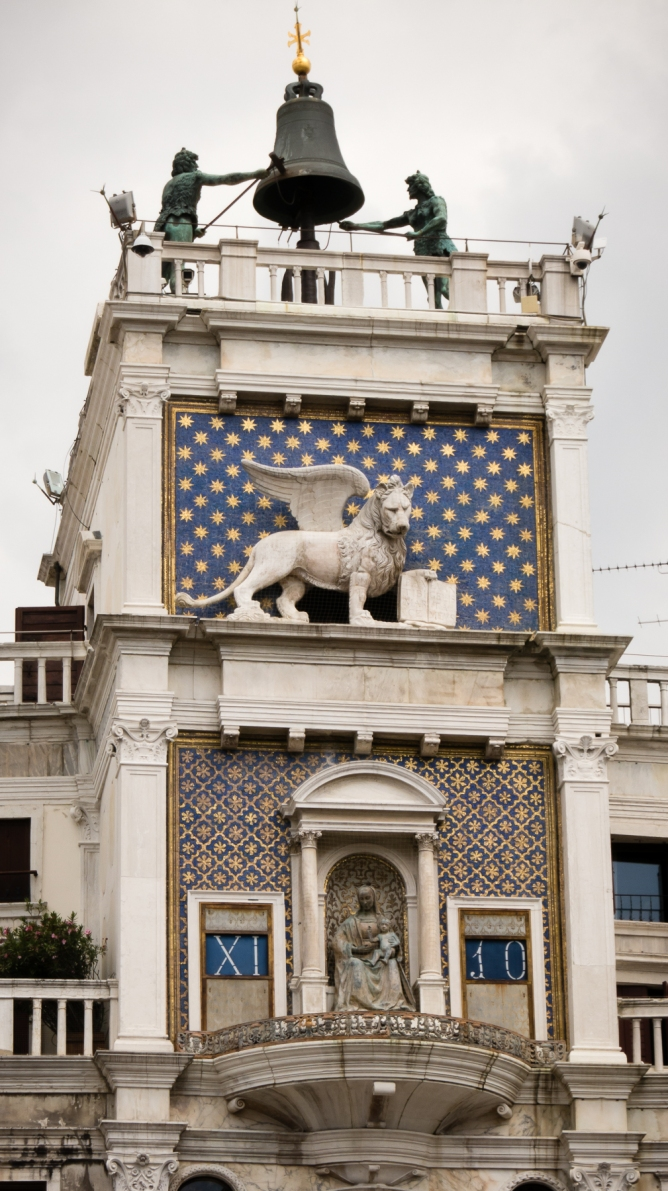 Torre dell'Orologio (Clock Tower) with the Lion of Venice in Piazza di San Marco (St. Mark's Square), Venice, Italy