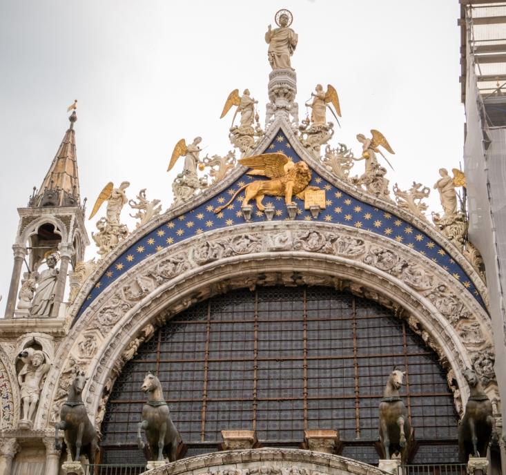 Triumphal Quadriga (The Horses of Saint Mark) on St. Mark's Basilica, Venice, Italy