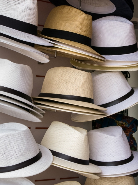 Typical men's summer hats, Piran, Slovenia