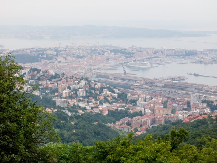 "View of Trieste from the ""strada Napoleonica"" (Napoleon's road), reached by the Trieste tram cable car"