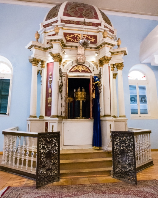 Ark for Torahs at the Scuola Greca Synagogue, Corfu, Greece