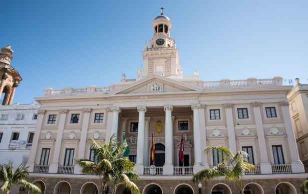 Ayuntamiento (The Town Hall, reconstructed in 1799) in Casco Antiguo (Old Town), Cadiz, Spain