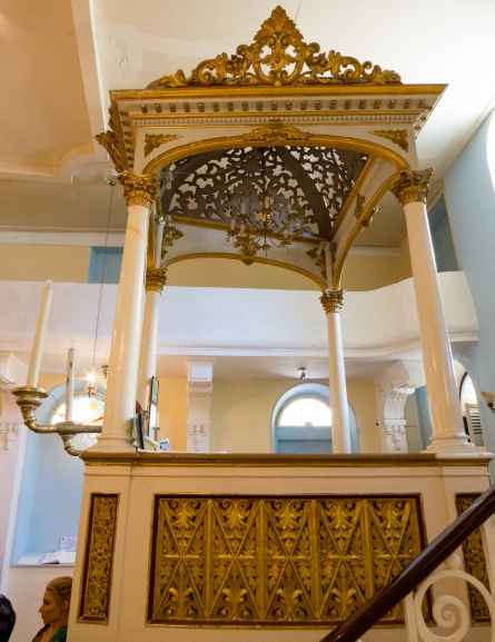 Bimah at the Scuola Greca Synagogue, Corfu, Greece