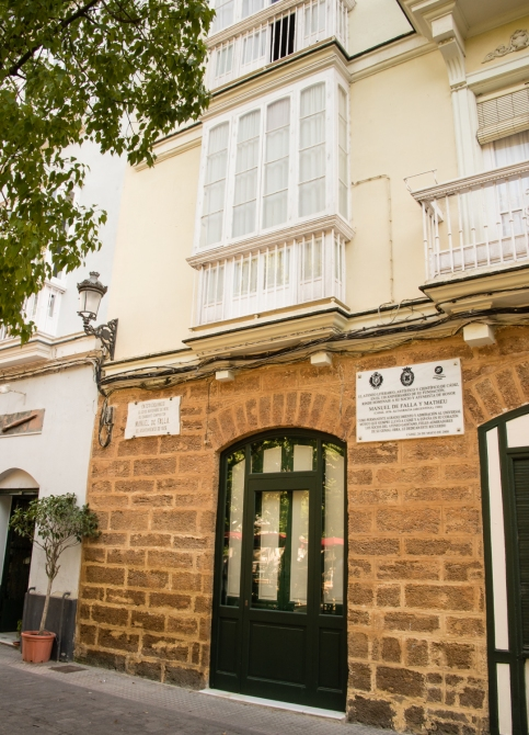 Birthplace of composer Manuel de Falla in 1876  in Casco Antiguo (Old Town), Cadiz, Spain