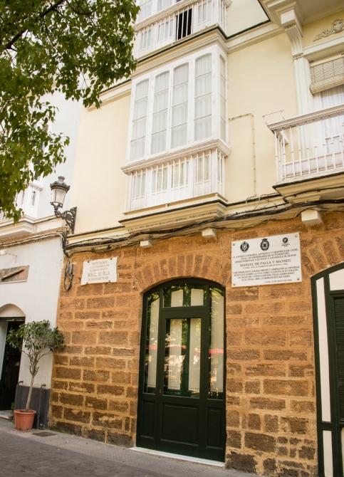 Birthplace of composer Manuel de Falla in 1876  in Casco Antiguo (Old Town), Cadiz, Spain