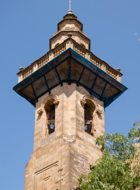 Catholic church tower and steeple, Valldemossa, Mallorca, Spain