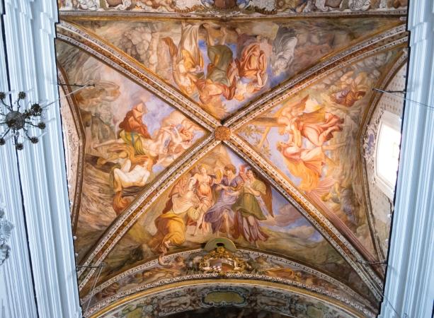 Ceiling panel of Catterdale di San Bertolomeo, Lipari Town, Lipari, Italy