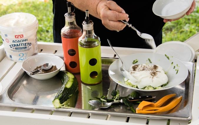 Demonstration -- making Greek Creamy Tzatziki