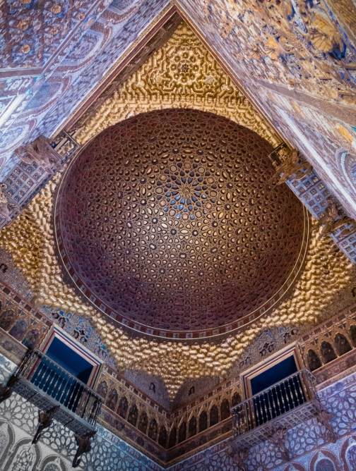 Domed ceiling -- Moorish design, Reales Alcázares de Sevilla, Sevilla, Spain