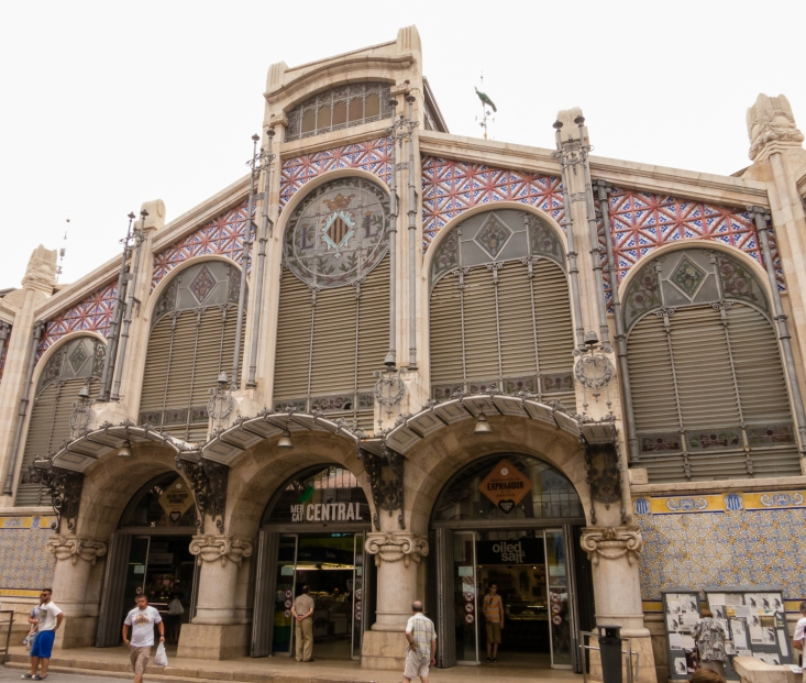 Exterior view of Mercado Central (Central Market), Valencia, Spain