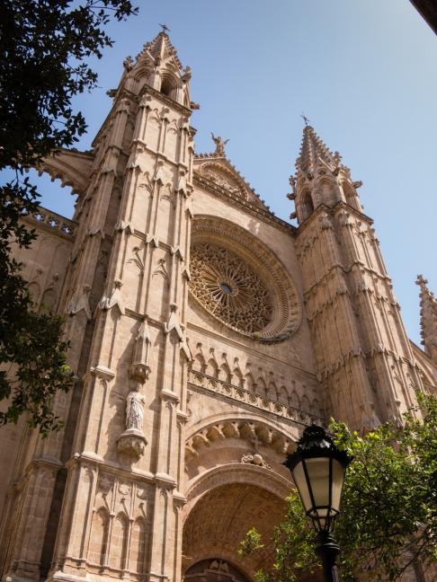 Facade of La Seu, The Cathedral Palmas de Mallorca, Palma de Mallorca, Mallorca, Spain