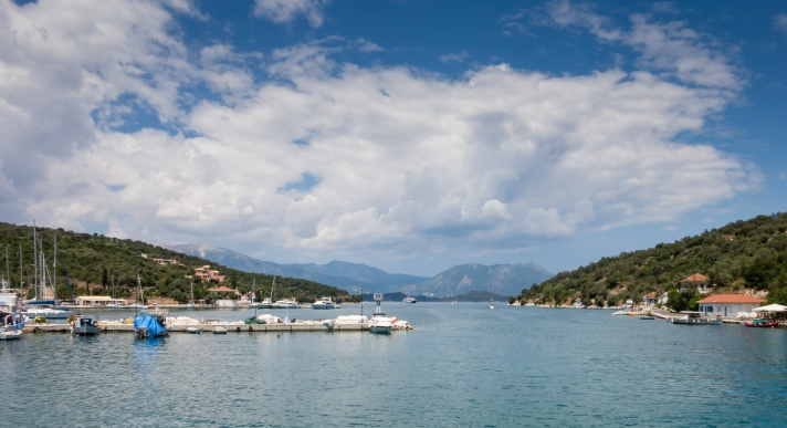 Harbor on Meganisi Island, southeast of Lefkada island, Greece