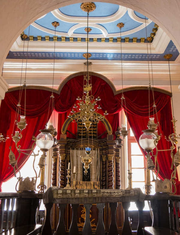 Interior --Bimah and Ark -- (third floor) of the Synagogue, Dubovnik, Croatia
