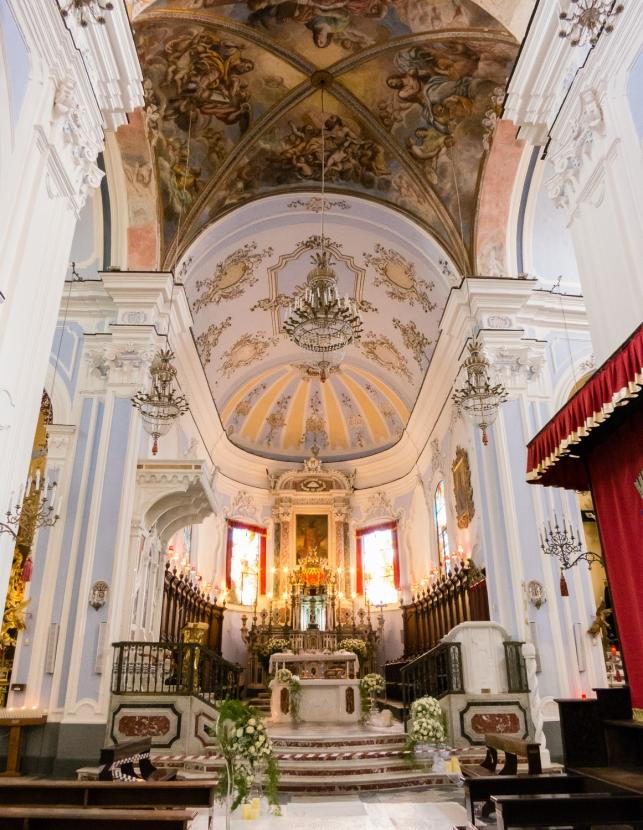 Interior of Catterdale di San Bertolomeo, Lipari Town, Lipari, Italy