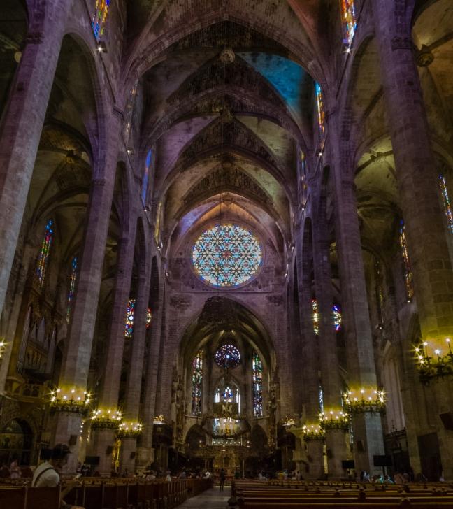 Interior of The Cathedral Palmas de Mallorca, Palma de Mallorca, Mallorca, Spain