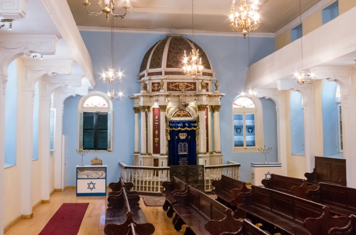 Interior of the Scuola Greca Synagogue, Corfu, Greece