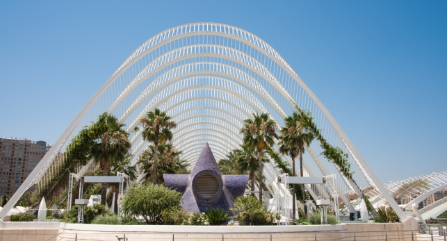 """L'Umbracle"", the landscaped walk with native Valencian plants, City of Arts and Sciences, Valencia, Spain"