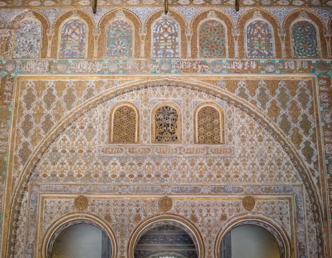 Moorish architecture details, Reales Alcázares de Sevilla, Sevilla, Spain